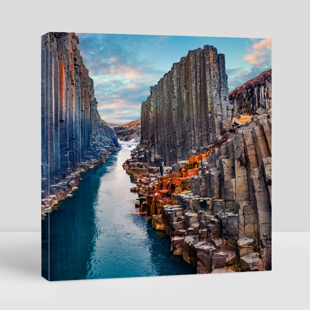 Summer Sunset on Canyon Canvas (Square)