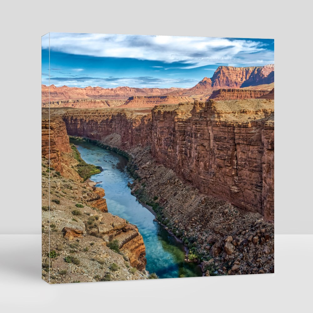 Red Rock River Canyon Canvas (Square)