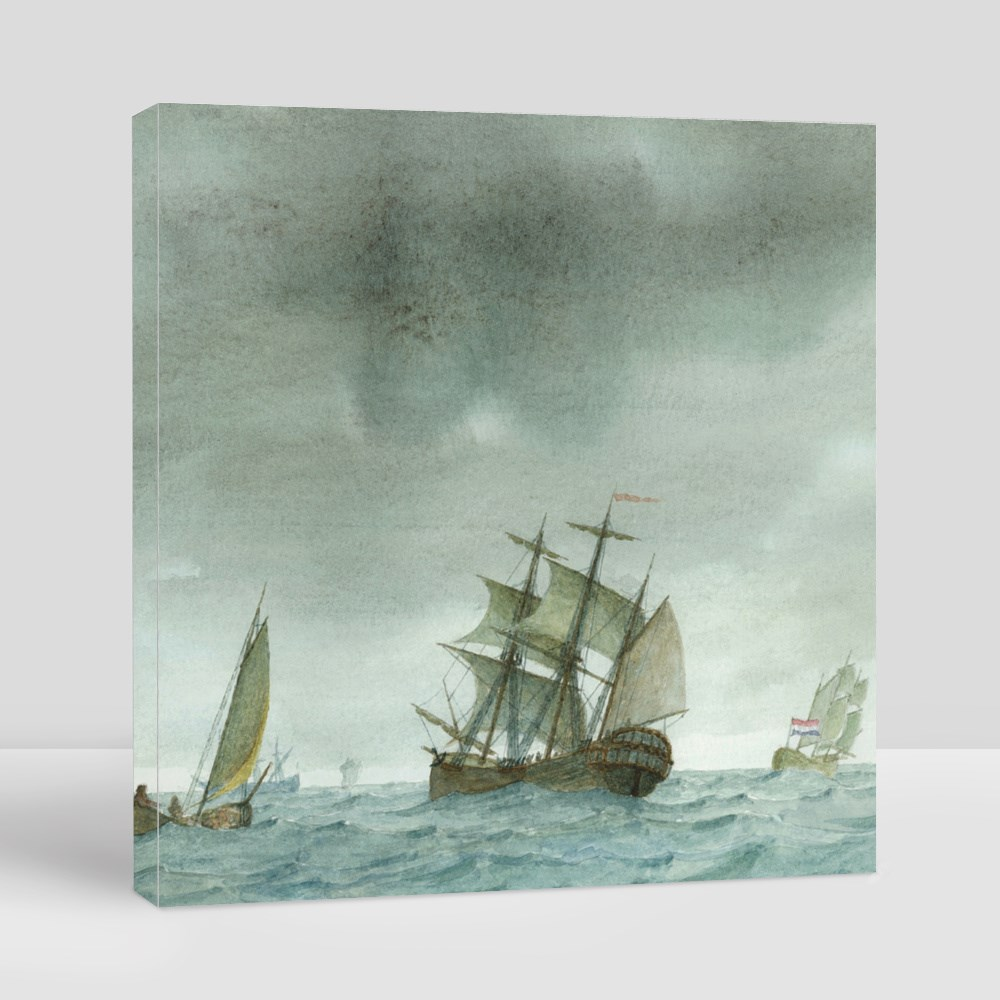 Vessels Braving the Storms Toile (Carrée)