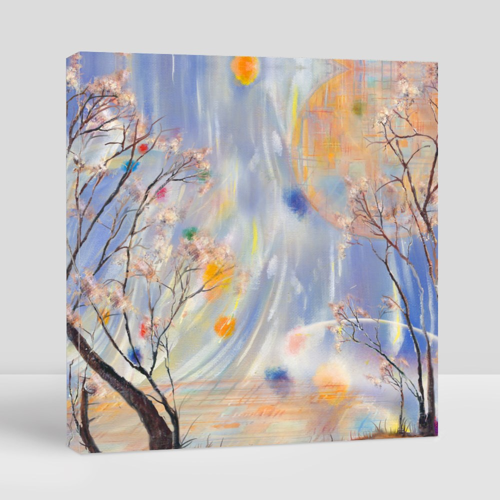 Autumn Trees and Surreal Sky Canvas (Square)