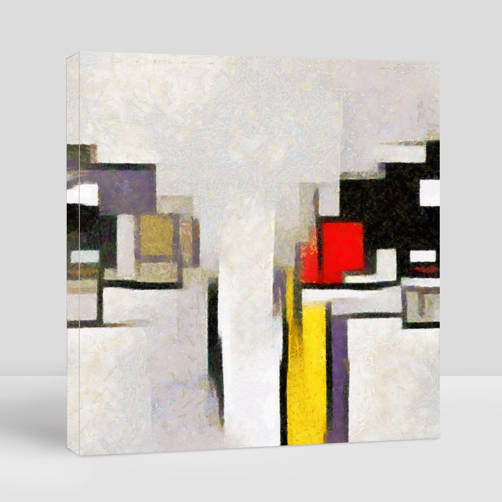 The Style of Piet Mondrian Canvas (Square)
