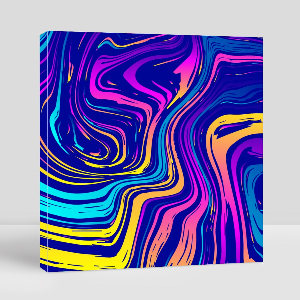 Psychedelic Swirling Paint Canvas (Square)