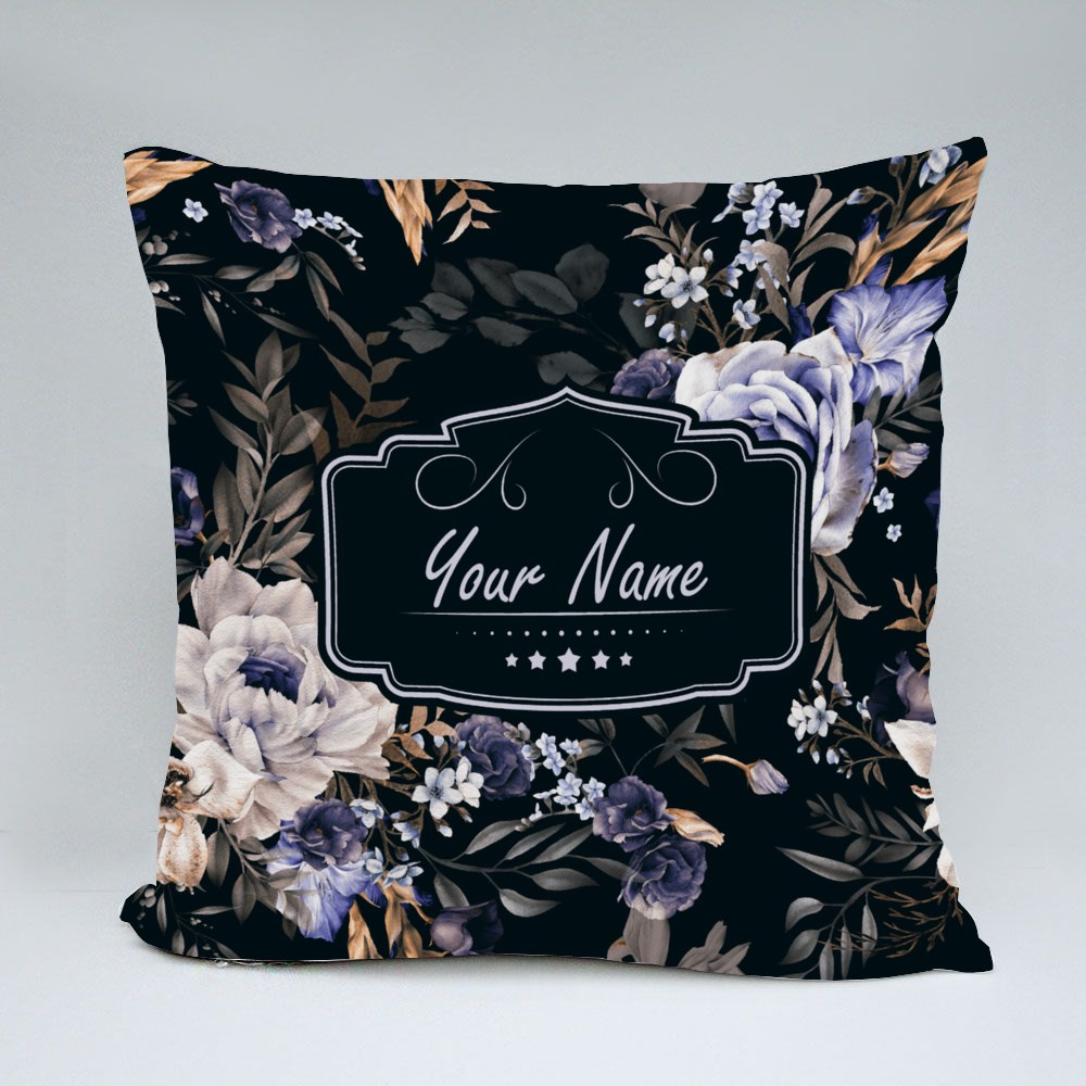 Exotic Flowers Pattern Throw Pillows