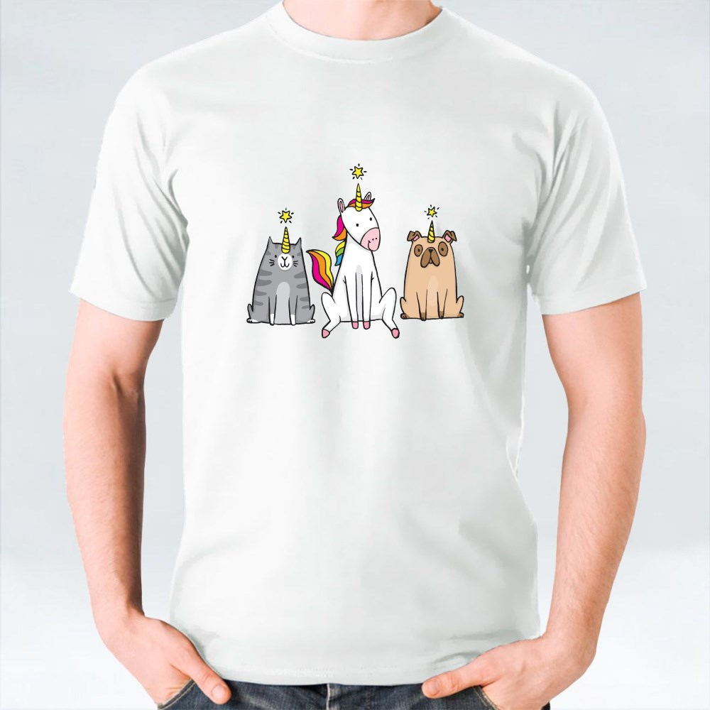 A Unicorn and Her Pets T-Shirts