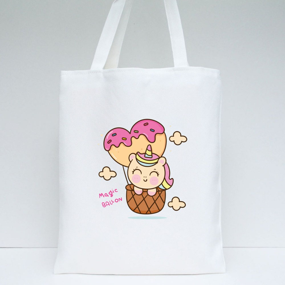Pony Child in Heart Balloon Tote Bags