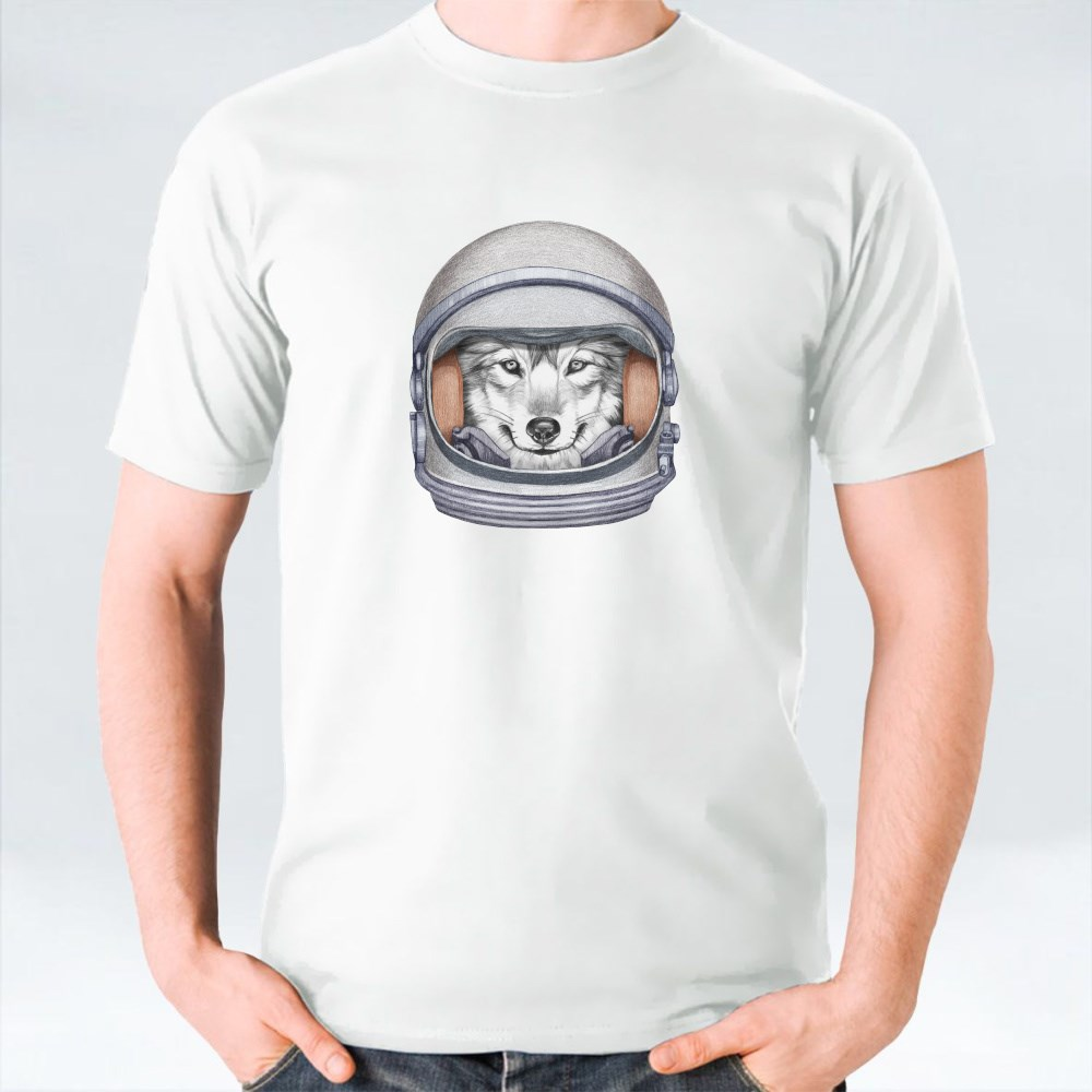 Wolf in a Space Helmet T-Shirts