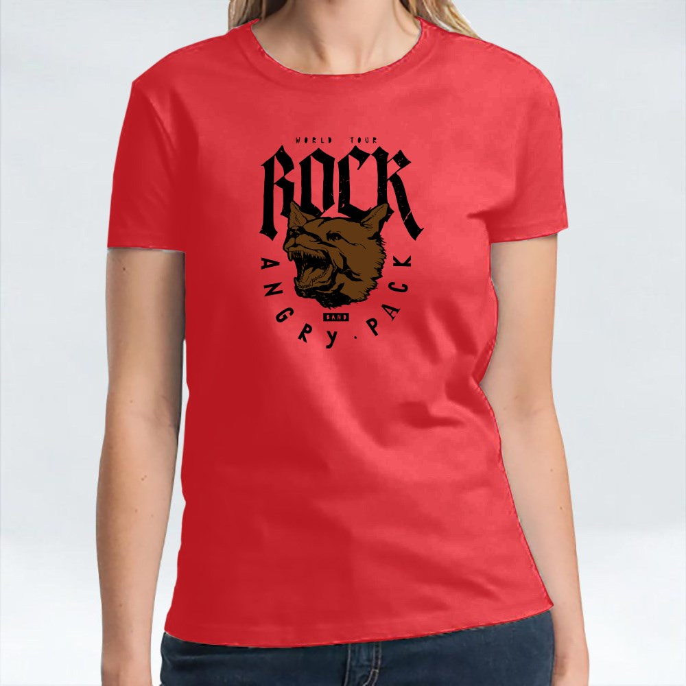 Rock Wolf Angry Pack T-Shirts