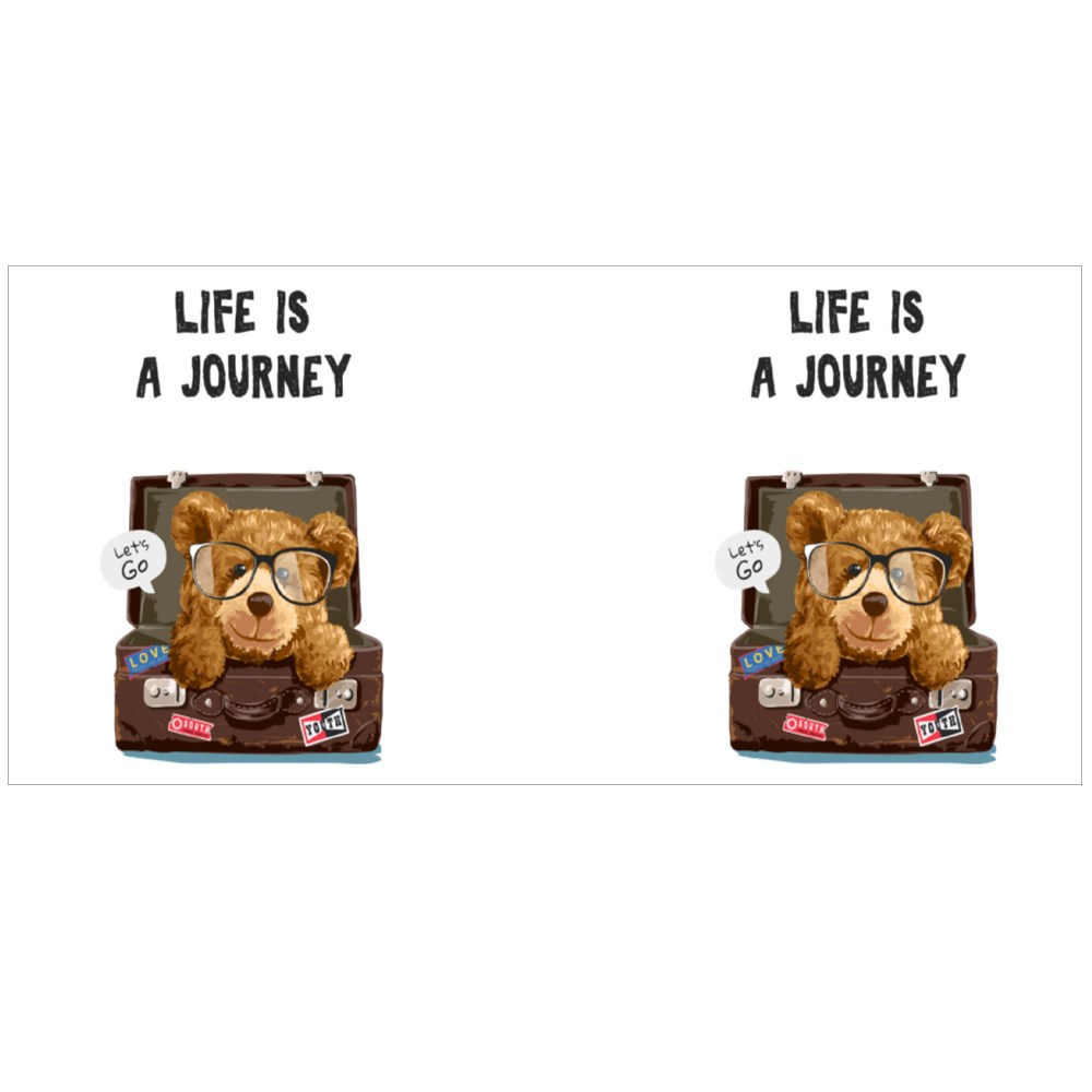 Life Is a Journey Colour Mugs