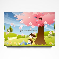 Couple Under Cherry Tree