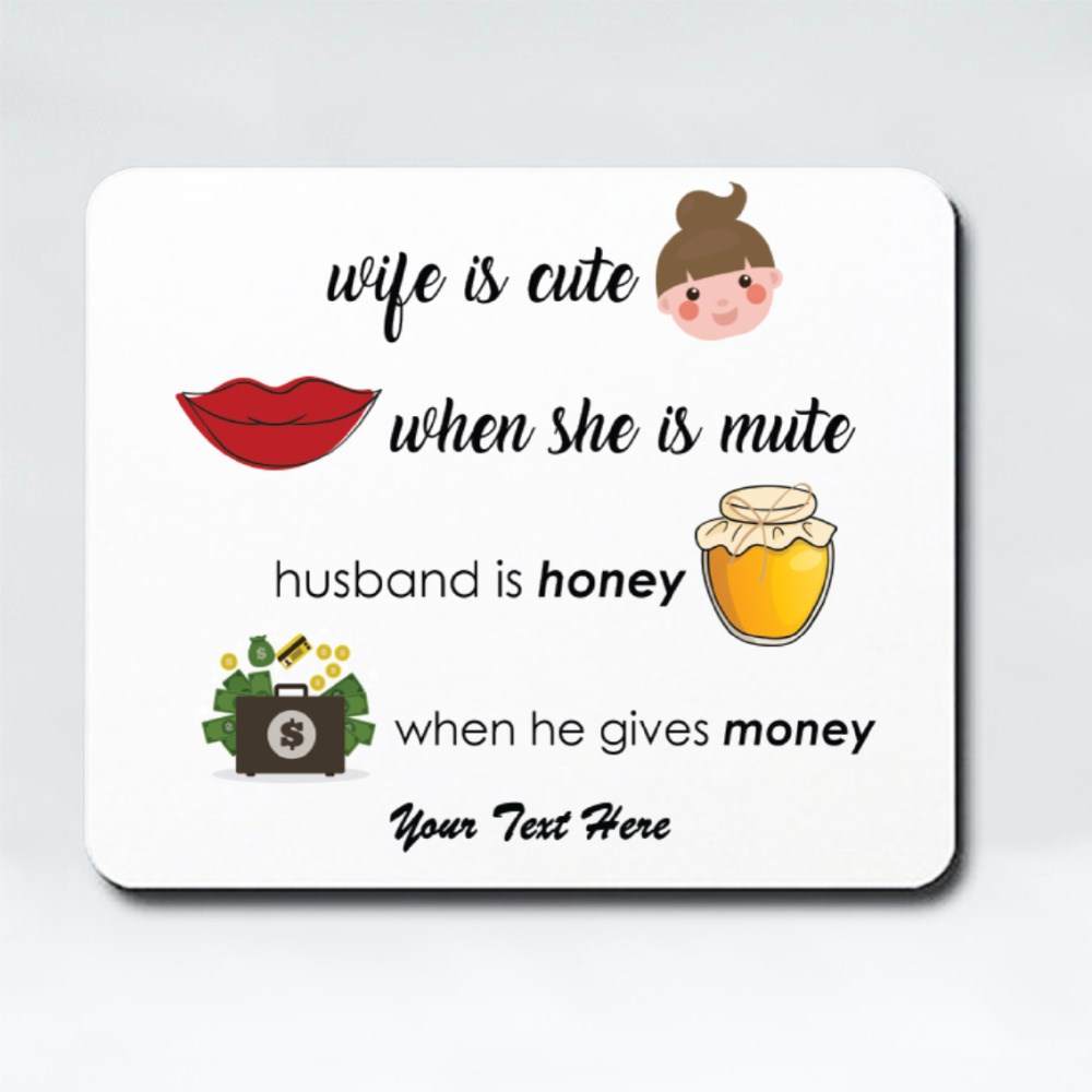 Mousepads > Mousepads (Rectangle) > Wife Is Cute, Husband Is Honey Icon