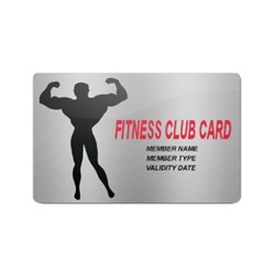 Fitness Membership Card
