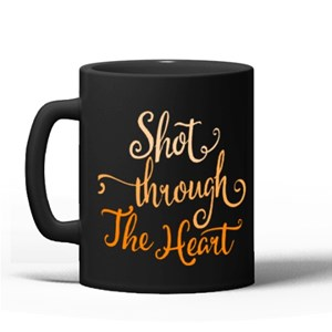 Shot Through the Heart Typography