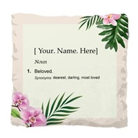 Customizable Name Definition Pillow