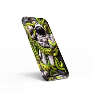 Space Astronauts Fighting With a Neon Green Alien