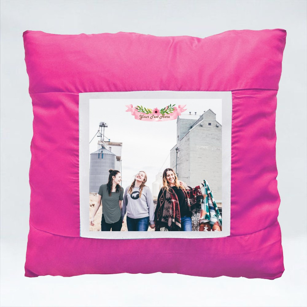 Cushions > Cushions (Square) > Pink Flowery Banner
