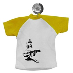 Girl With Guitar Stencil Art