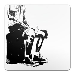 Sitting Man Stencil Art