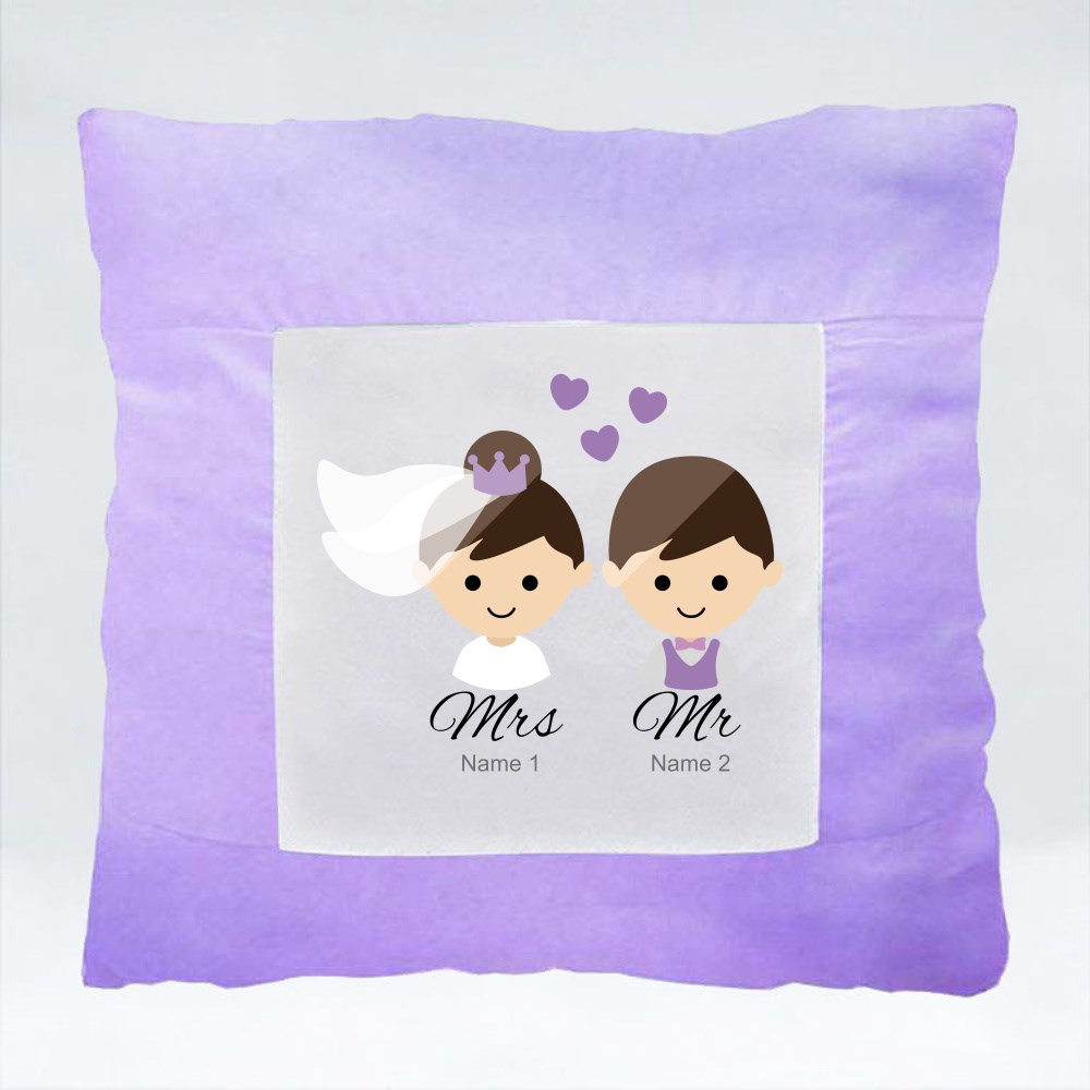 Cushions > Cushions (Square) > Bride and Groom