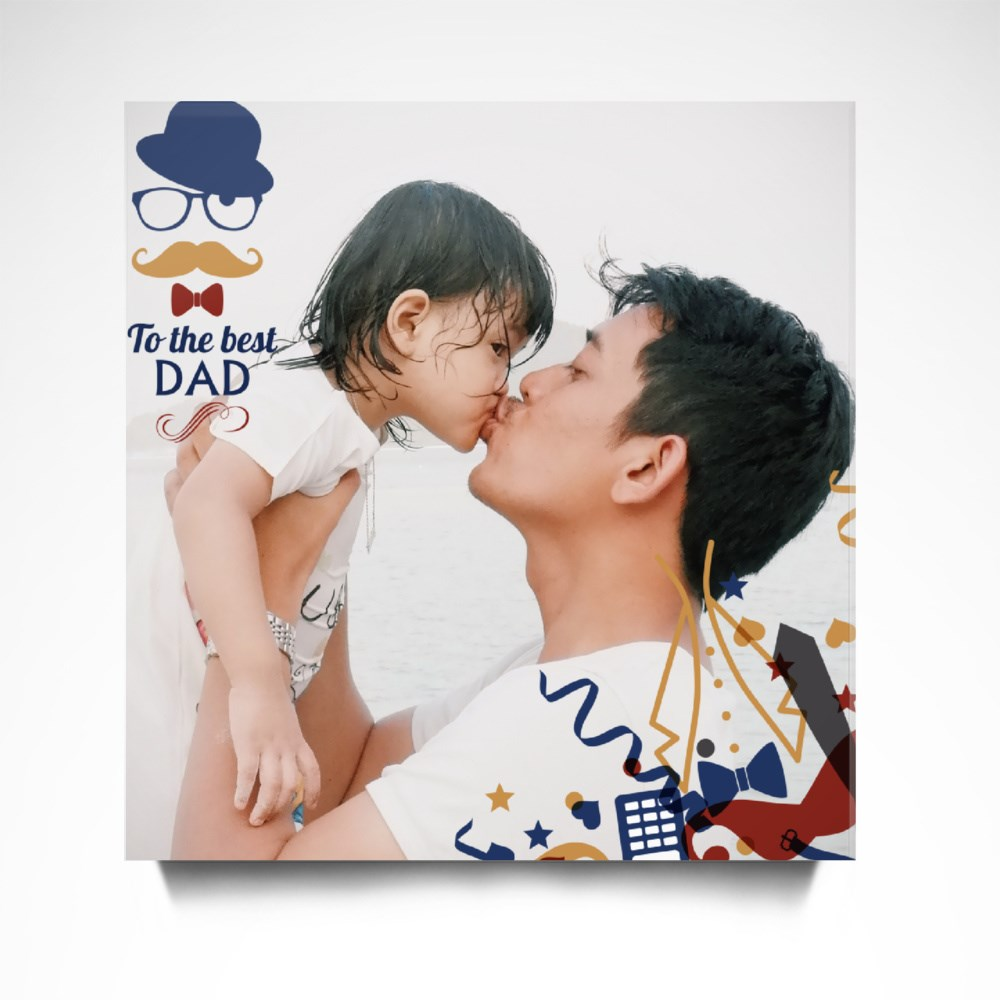 To the Best Dad Canvas (Square)