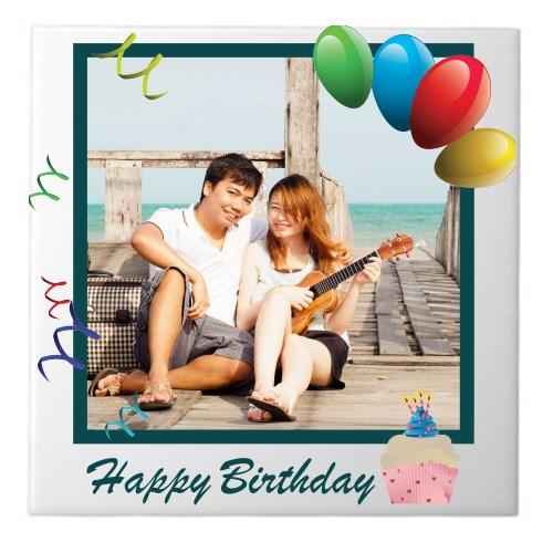 Ceramic Tiles > Ceramic Tiles (Square) > Birthday Custom Photo