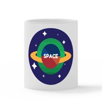 Minimalist Space Theme Mug