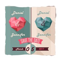 Blue Beige Save the Date
