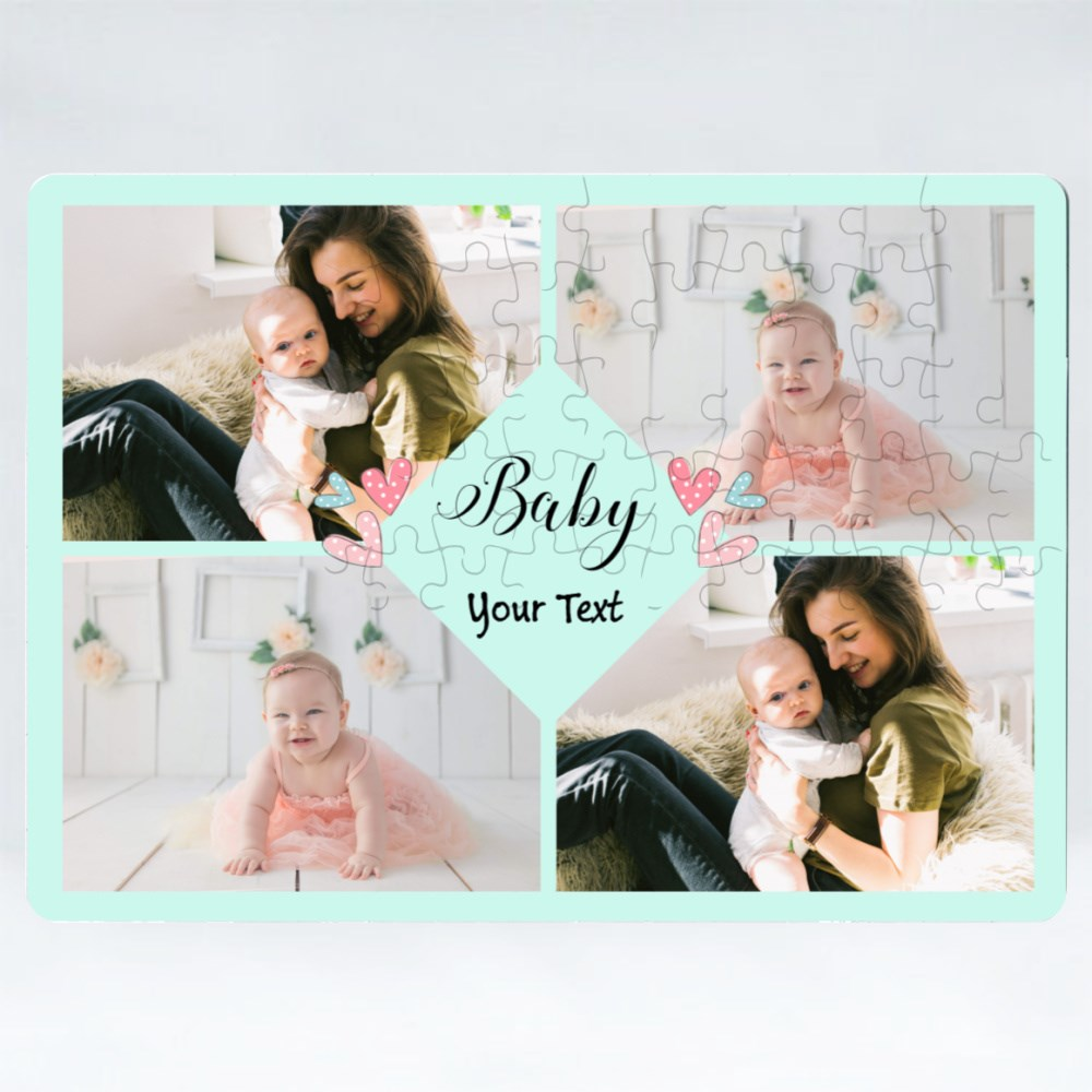 Puzzles > Puzzles (Rectangle) > 4 Baby Photos