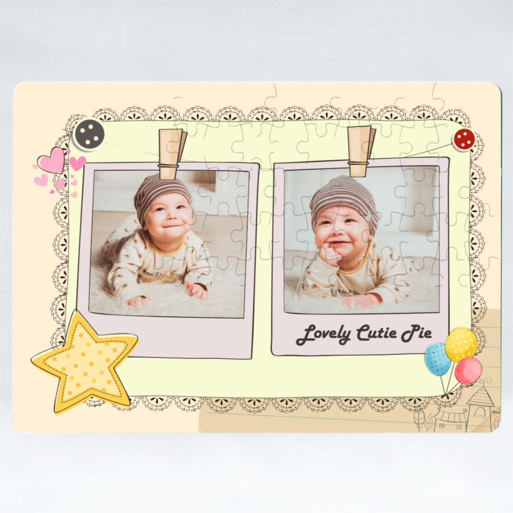 Puzzles > Puzzles (Rectangle) > Customize Baby Scrapbook