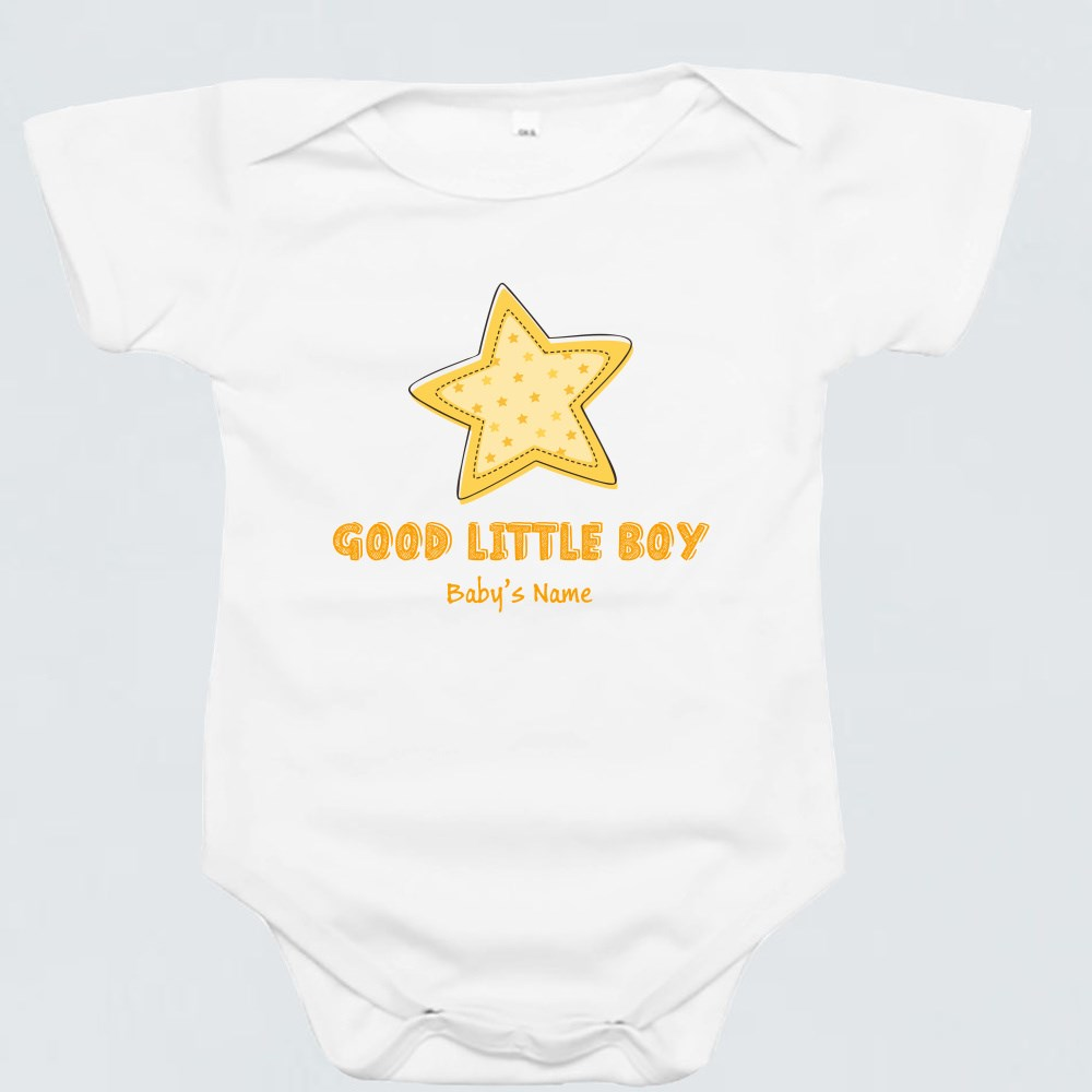 Baby Rompers > Baby Rompers (Short Sleeve) > Good Little Boy