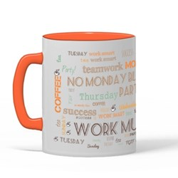 Work Mug Word Collage