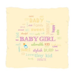 Baby Girl Word Collage