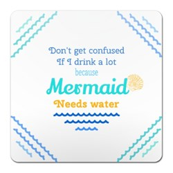 Mermaid Mug/ Glass Coaster