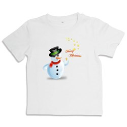 Playful Snowman With Star