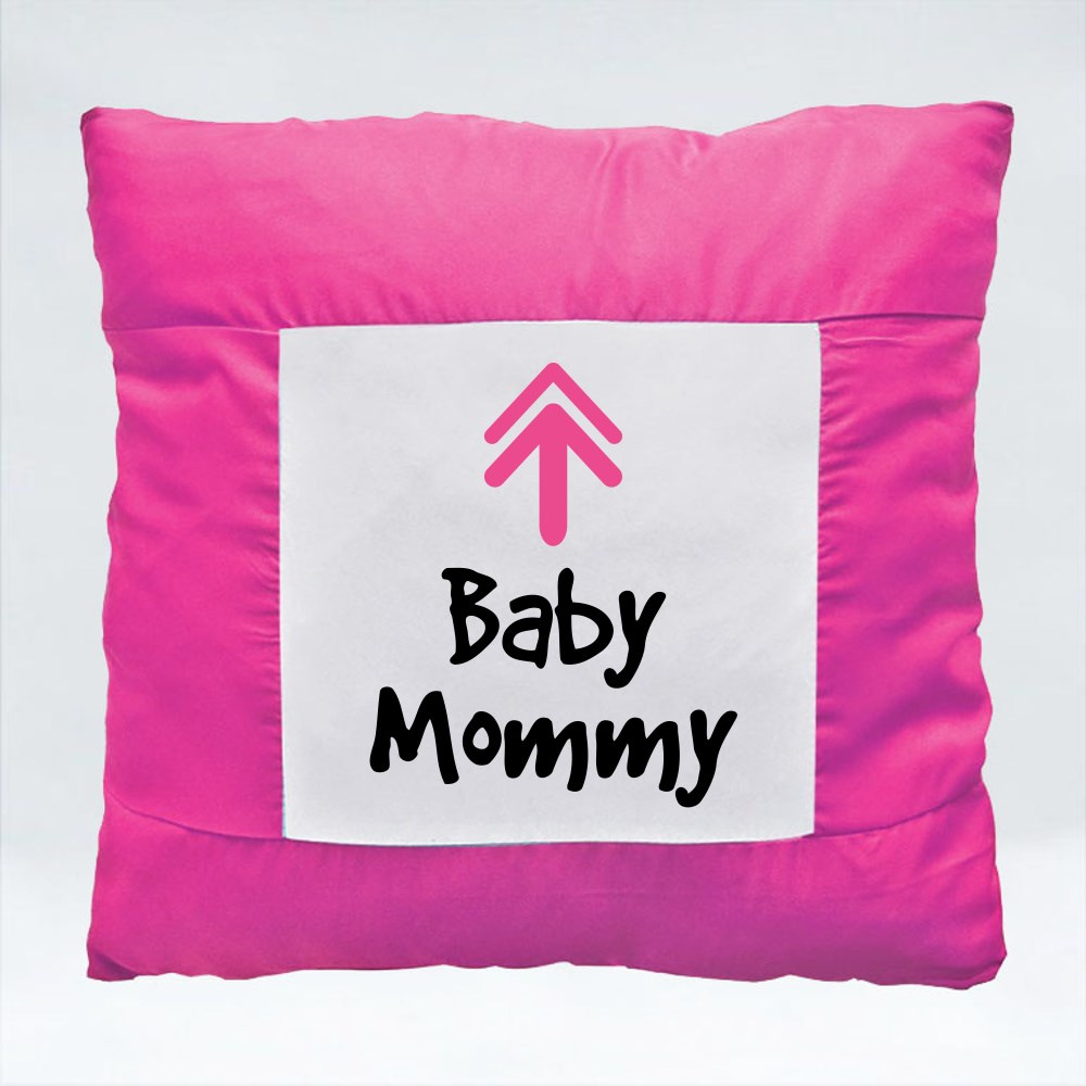Cushions > Cushions (Square) > Arrow Up Baby Mommy