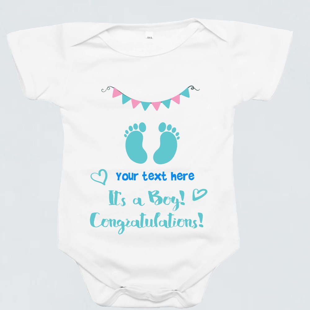 Baby Rompers > Baby Rompers (Short Sleeve) > Suprise,Its a Boy