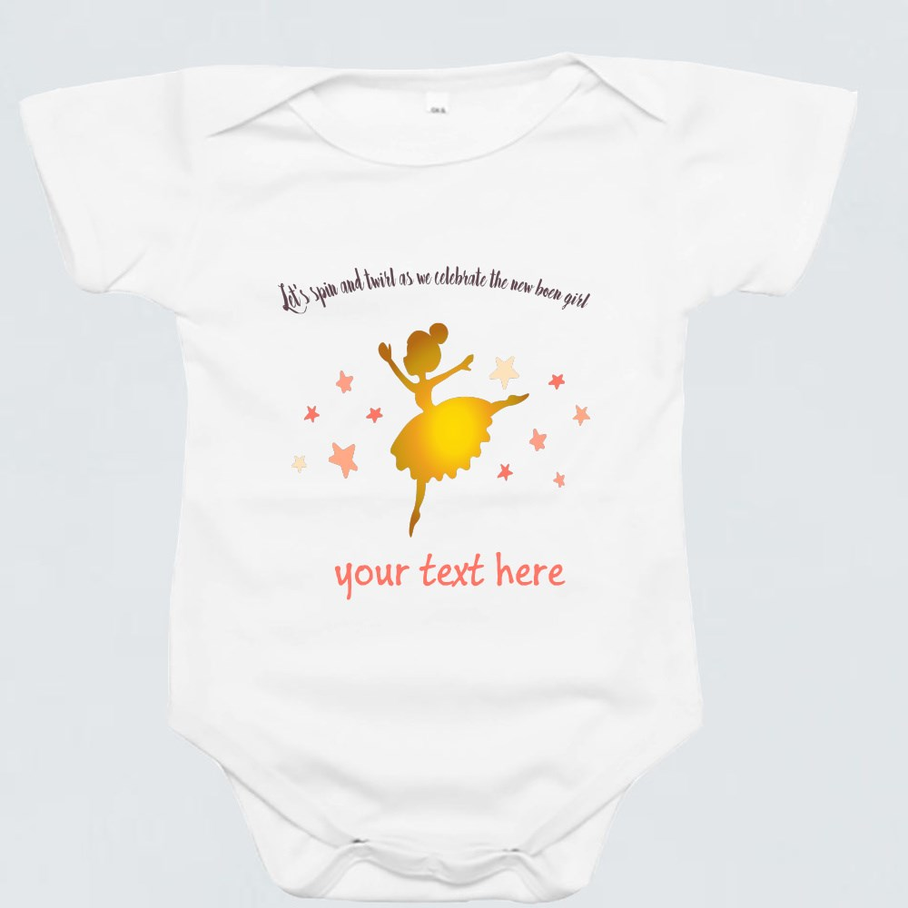 Baby Rompers > Baby Rompers (Short Sleeve) > Dance With Joy