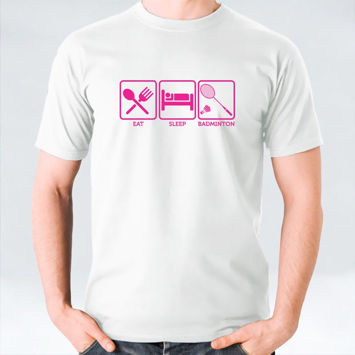 Eat Sleep Badminton T-Shirts