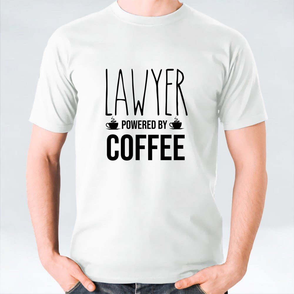 Lawyer Powered by Coffee T-Shirts
