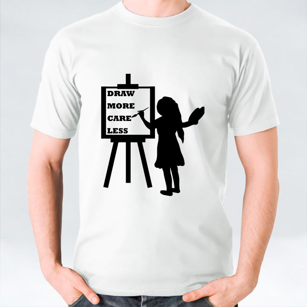 Draw More Care Less T-Shirts