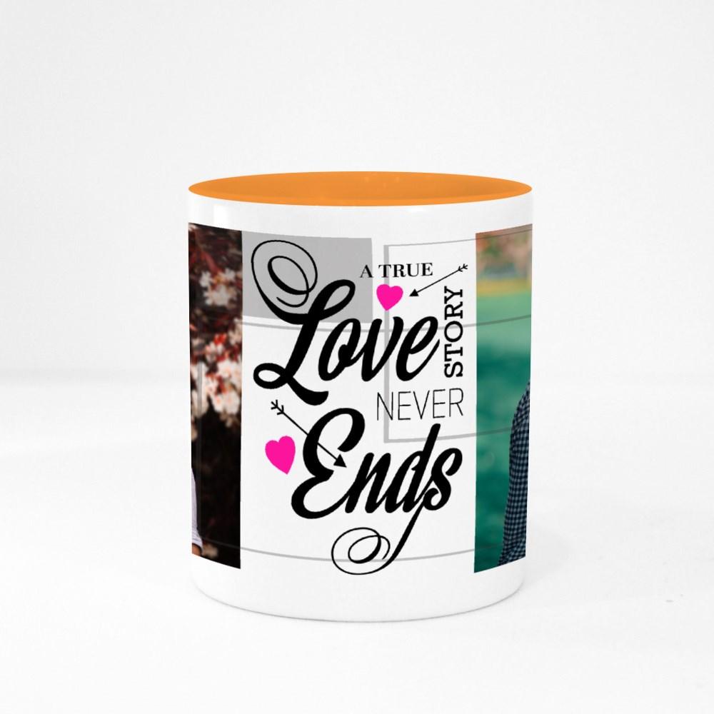 A True Love Story Never Ends Colour Mugs
