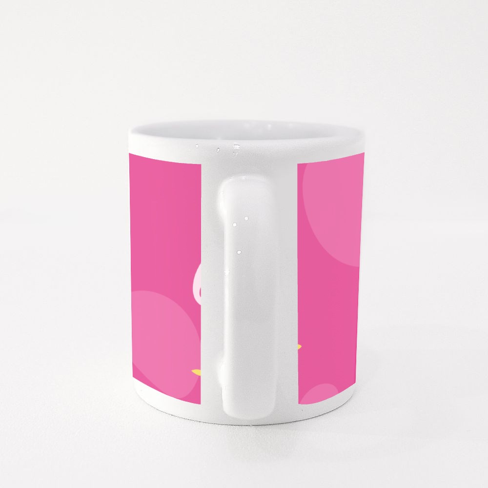 Pink Background Birthday Gifts Colour Mugs