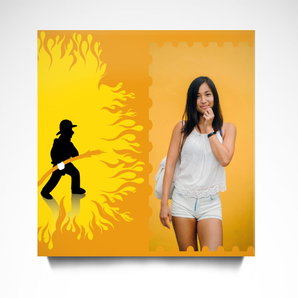 Dancing With the Firefighter Canvas (Square)