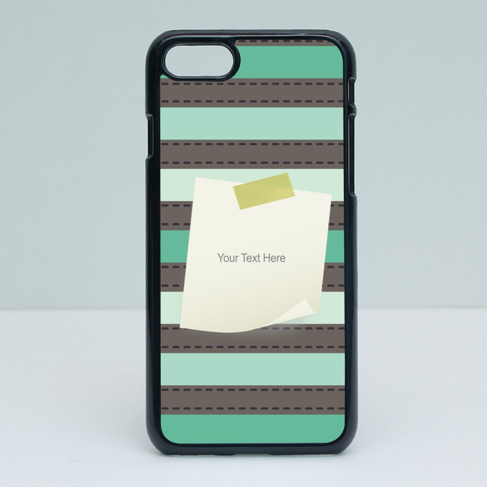 Phone Cases > iPhone 6 / 6s (2D) > Stripe Pattern With Paper Note