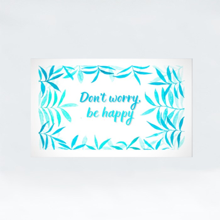 Don't Worry Be Happy Stickers (Rectangle)