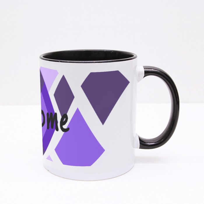 Abstract Art 4 Colour Mugs