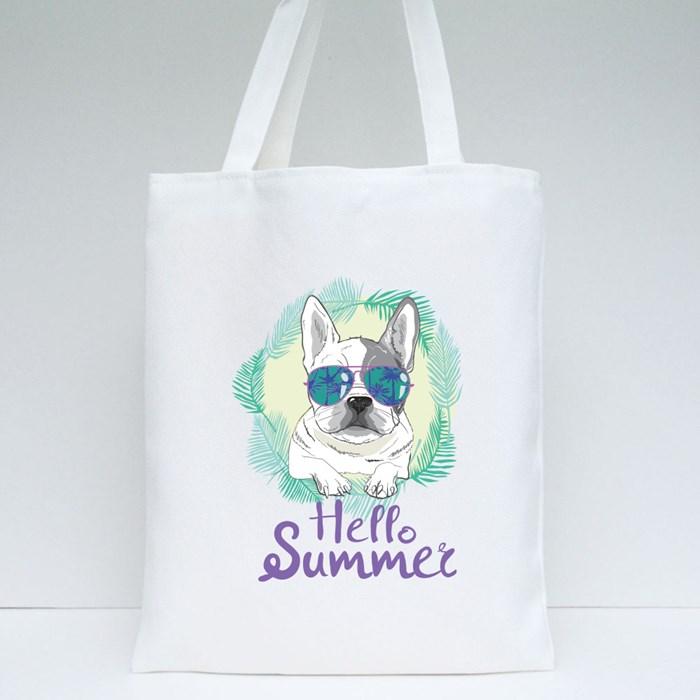 Hot Summer Pugs Tote Bags