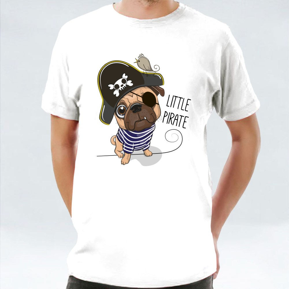 Pug Dog in a Pirate Hat T-Shirts