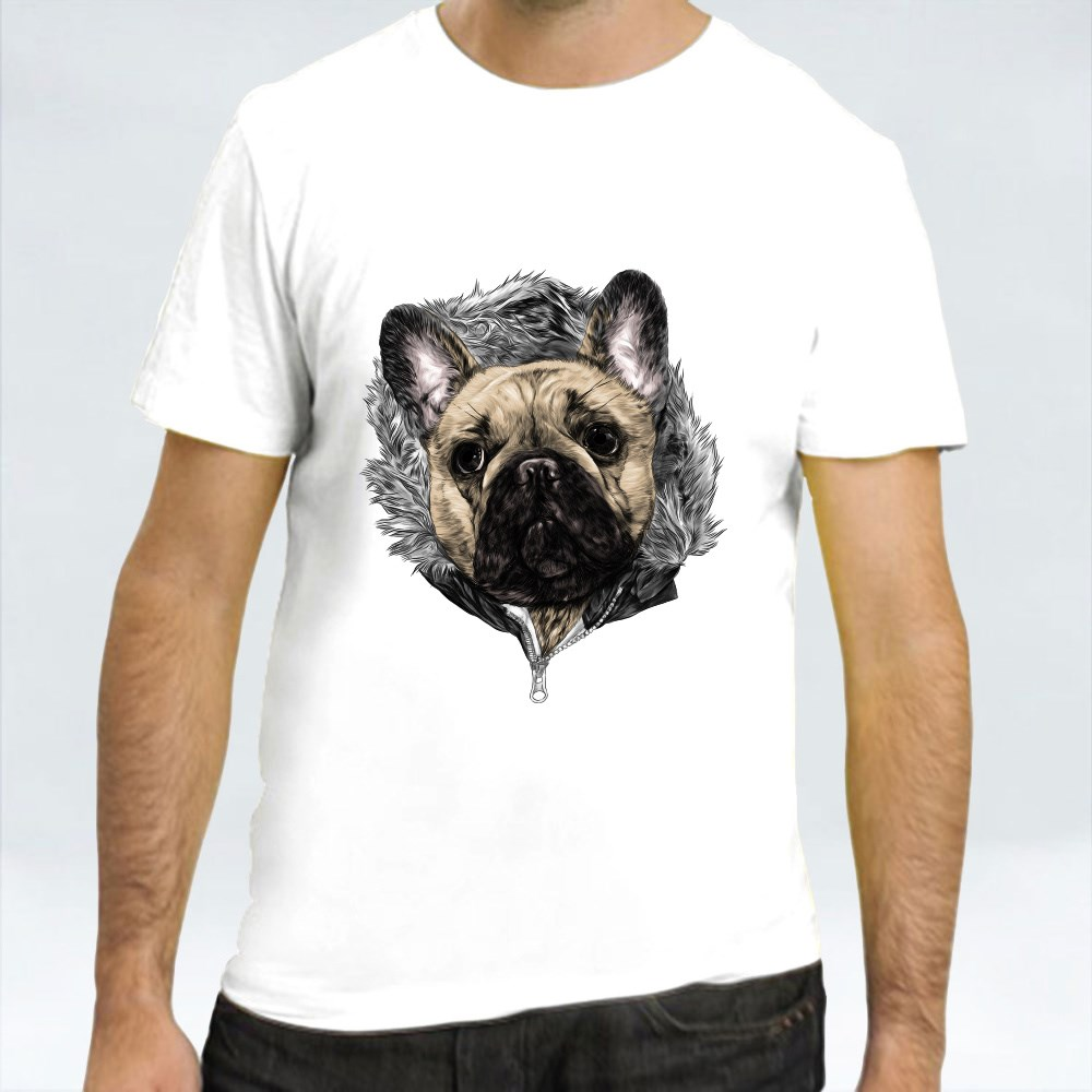 Pug in the Hoodie تي شيرت