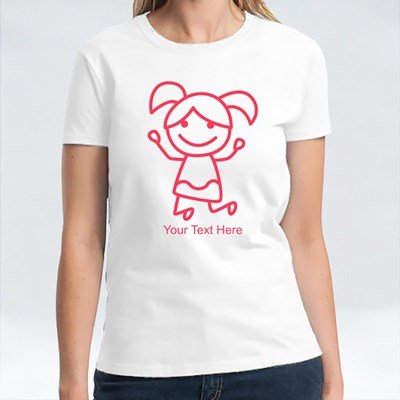 Red Little Stick Girl Shirt