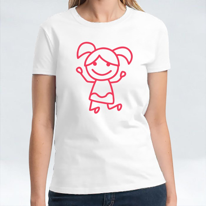 Red Little Stick Girl Shirt T-Shirts